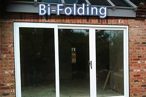 bi-folding doors in sheffield close up