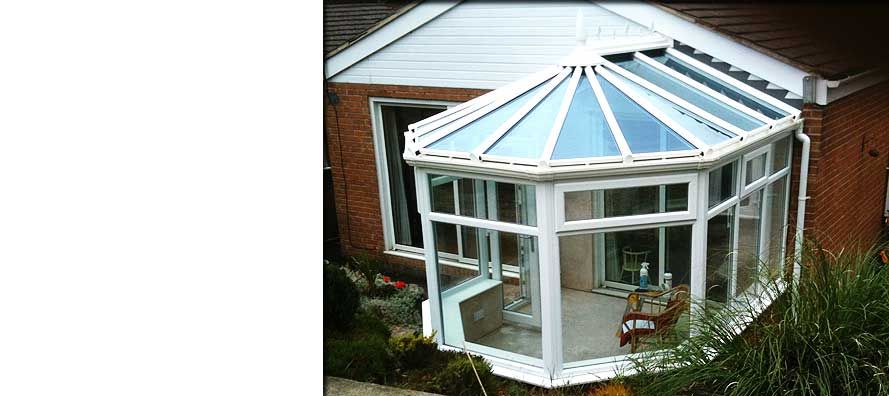 custom small compact circular conservatory on a sheffield residential home