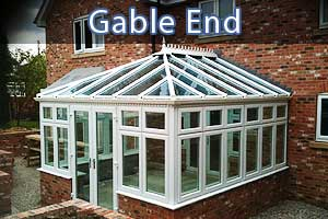 gable end conservatories showing the actual end connection