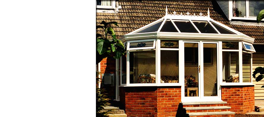 pvcu bright white conservatory installation