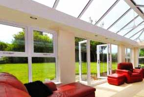 A close up of a conservatory in sheffield