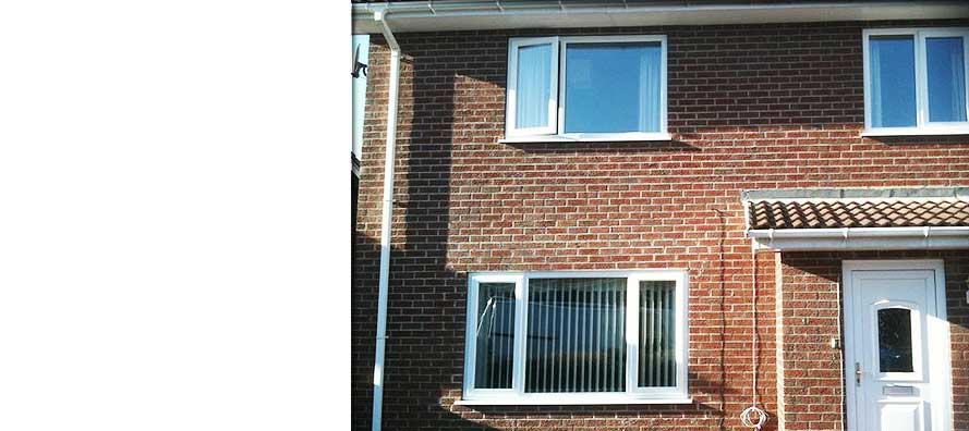 semi detatched sheffield home sporting new white double glazed windows