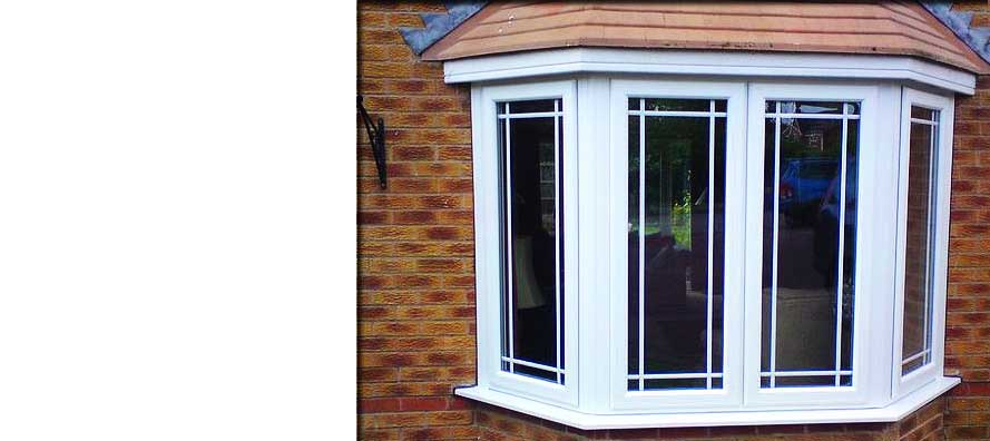 a beatiful pvcu white double glazed bay window