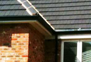 A close up of soffits and fascias on a residential home in sheffield