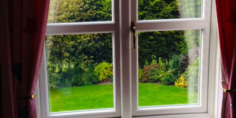 view from a home bedroom in sheffield with lovely crisp white sheffield double glazing