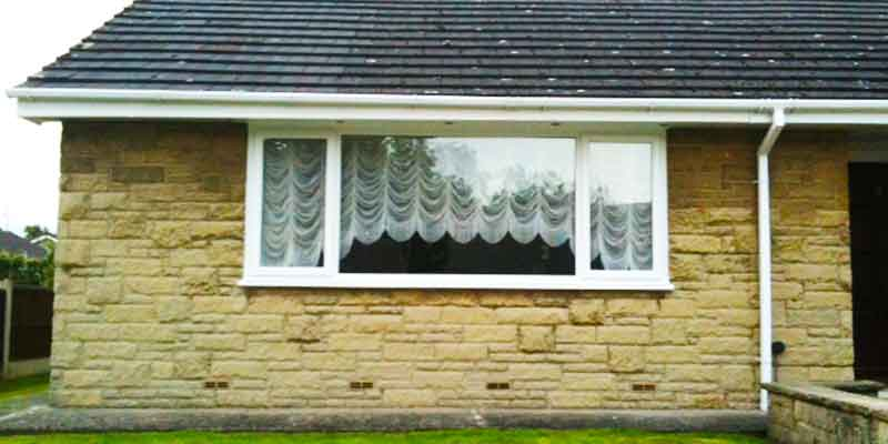 sheffield double glazing installation and replacement on a gorgeus stone built bungalow