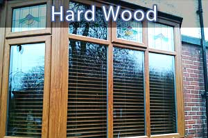 wooden replacement double glazed windows in sheffield close up